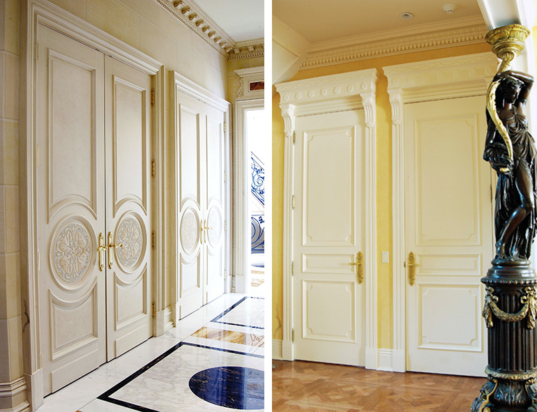 Custom interior doors paint grade mdf stile rail doors for Custom interior doors